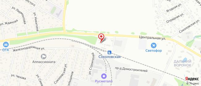 Карта расположения пункта доставки Халва в городе Щелково