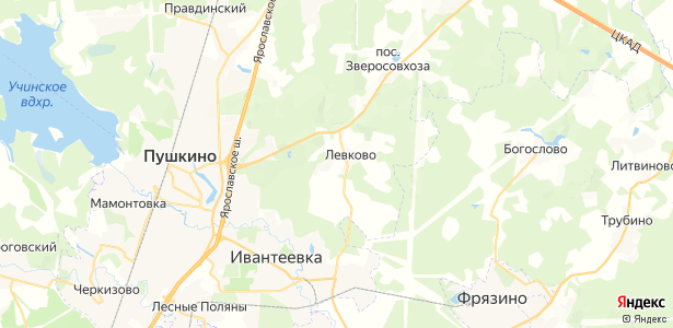 Левково на карте