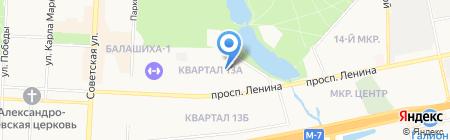 СОЮЗСБЕРЗАЙМ на карте Балашихи