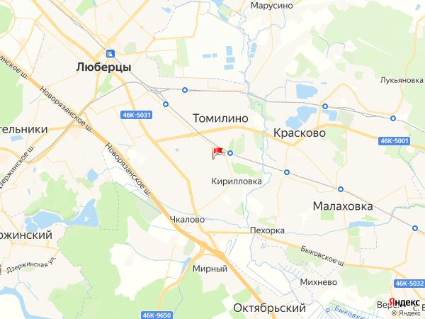 Карта поселение Томилино