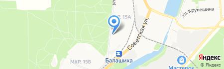 Автоматические системы на карте Балашихи
