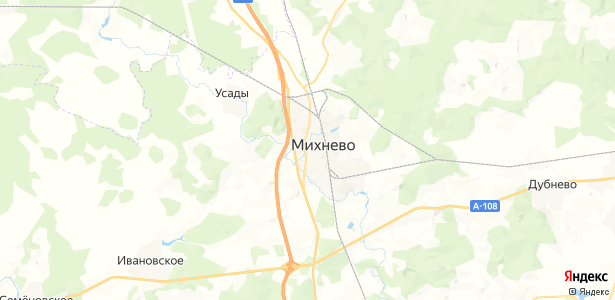 Михнево на карте