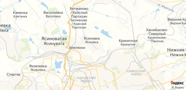 Ясиновка на карте