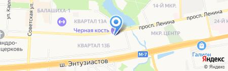 Студия причесок на карте Балашихи