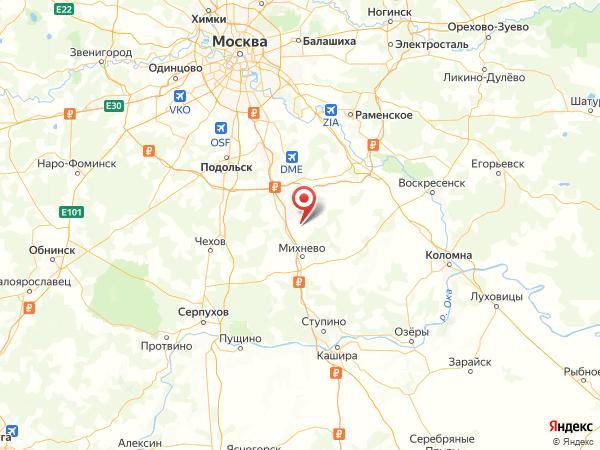 деревня Татариново на карте