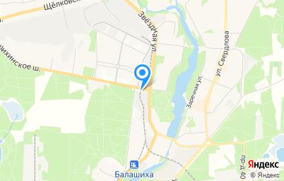 Местоположение на карте пункта техосмотра по адресу Московская обл, г Балашиха, ул Советская, д 35