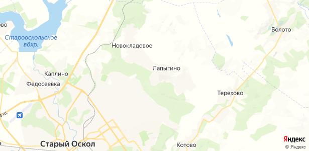 Лапыгино на карте