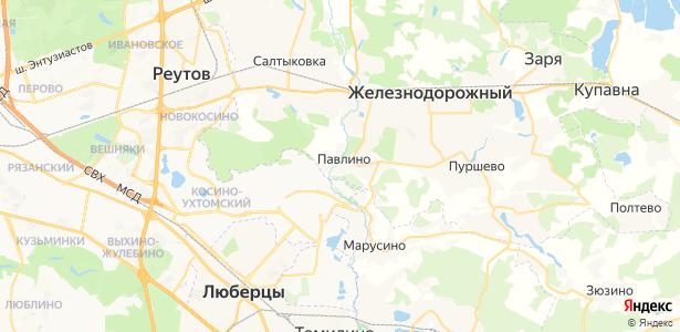Павлино на карте