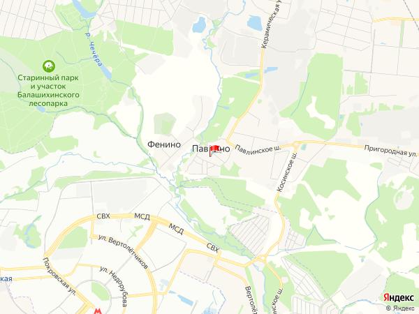 Карта населенный пункт Павлино