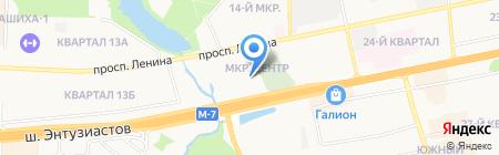 Элика на карте Балашихи