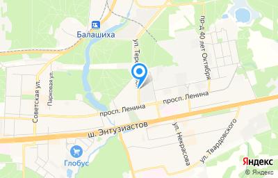 Местоположение на карте пункта техосмотра по адресу Московская обл, г Балашиха, пр-кт Ленина, влд 65