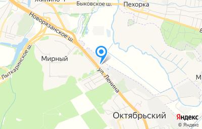 Местоположение на карте пункта техосмотра по адресу Московская обл, г Люберцы, рп Томилино