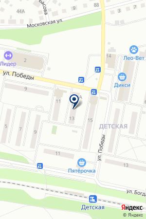 ПАРИКМАХЕРСКАЯ ОЧАРОВАНИЕ на карте Ивантеевки