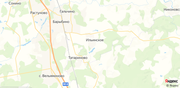 Ильинское на карте