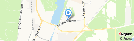 Магазин цветов на ул. Андрея Крупешина на карте Балашихи