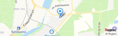 ПЛЮС на карте Балашихи