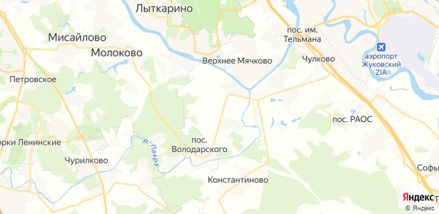 Щеголёво на карте