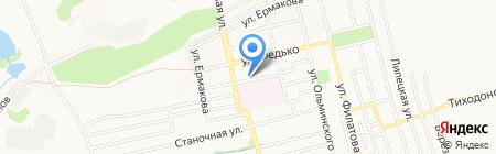 Лимония на карте Донецка