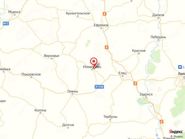 село Измалково на карте