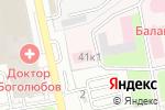 Схема проезда до компании Шиномонтажная мастерская в Балашихе