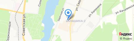 Городская детская поликлиника №7 на карте Балашихи