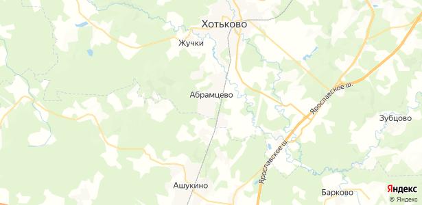 Абрамцево на карте