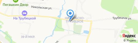 Храм Владимира равноапостольного в Николо-Трубецком на карте Балашихи
