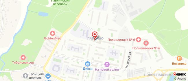 Карта расположения пункта доставки Пункт выдачи в городе Павлино