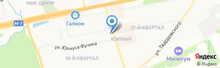 Неон на карте Балашихи