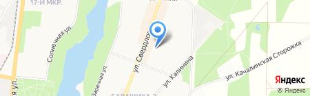 Средняя общеобразовательная школа №9 им. героя РФ А.В. Крестьянинова на карте Балашихи