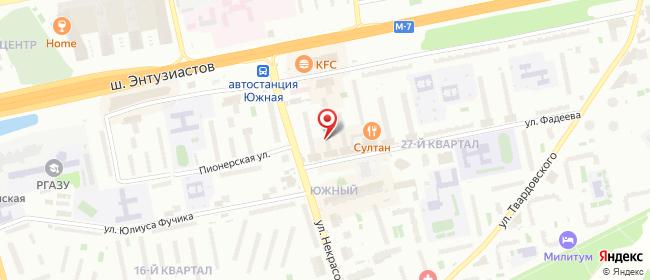 Карта расположения пункта доставки Билайн в городе Балашиха