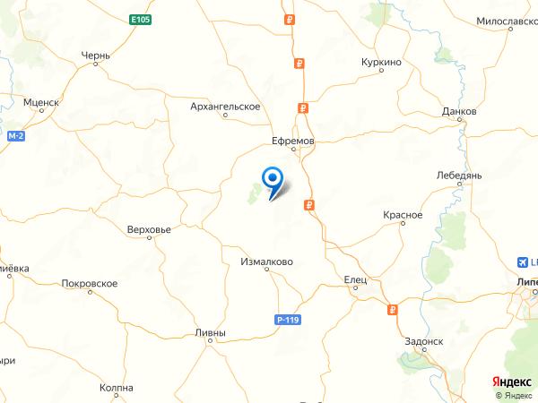 деревня Большие Бутырки на карте