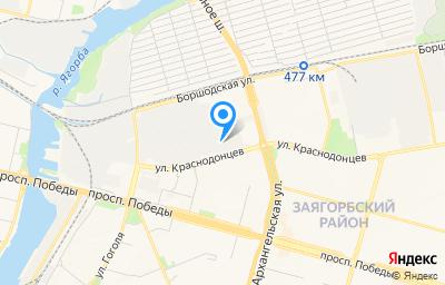 Местоположение на карте пункта техосмотра по адресу Вологодская обл, г Череповец, ул Краснодонцев, д 3