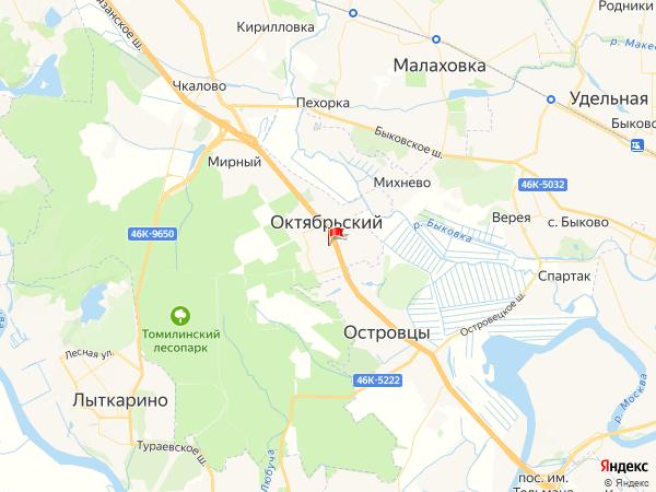 Карта город Октябрьский