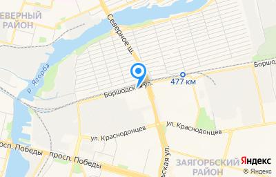 Местоположение на карте пункта техосмотра по адресу Вологодская обл, г Череповец, ул Боршодская, д 12