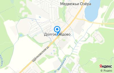 Местоположение на карте пункта техосмотра по адресу Московская обл, г Щёлково, д Долгое Ледово