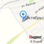 Октябрьский на карте Киреевска