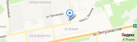 Городская поликлиника №3 на карте Балашихи
