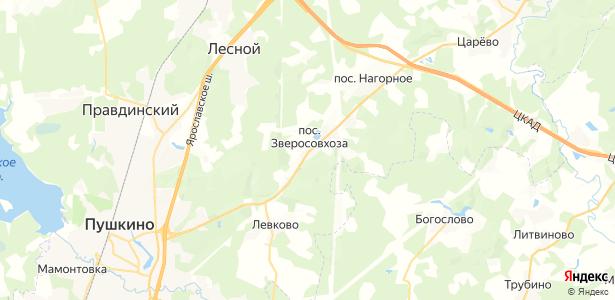 Зверосовхоза на карте