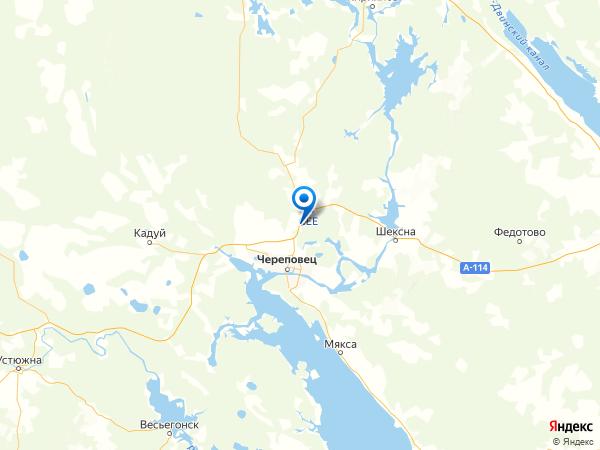 поселок Борисово на карте