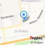 Владимирский на карте Балашихи