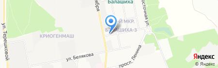 Булочная на карте Балашихи