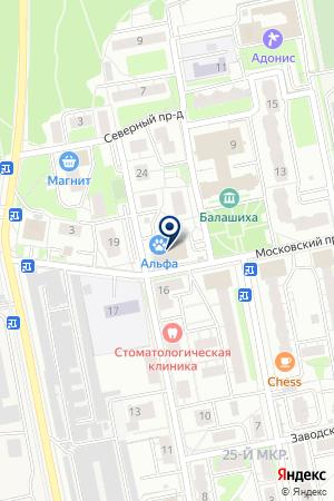 АДВОКАТСКАЯ КОНТОРА № 81 на карте Балашихи