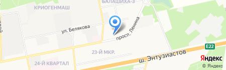 Детский сад №8 Крепыш на карте Балашихи