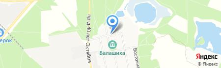 Надия-Студия на карте Балашихи