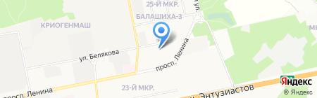 Средняя общеобразовательная школа №11 на карте Балашихи
