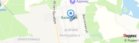 Почтовое отделение №143903 на карте Балашихи
