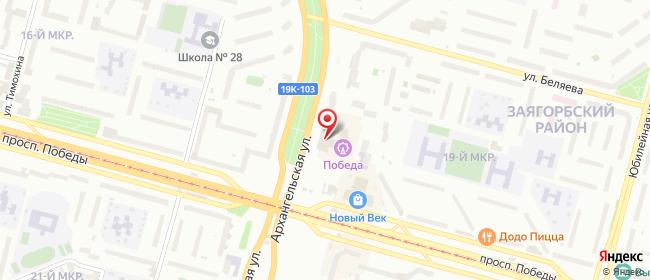 Карта расположения пункта доставки 6093 Постамат ОМНИСДЭК в городе Череповец