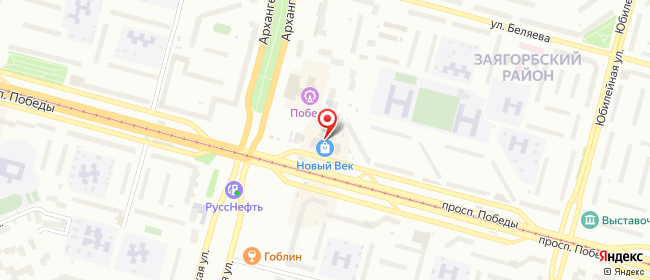 Карта расположения пункта доставки Билайн в городе Череповец