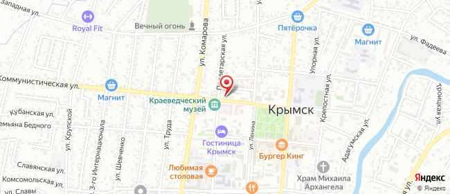 Карта расположения пункта доставки СИТИЛИНК в городе Крымск